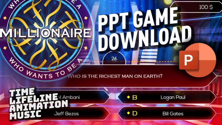 PPT TEMPLATE Who wants to be a millionaire