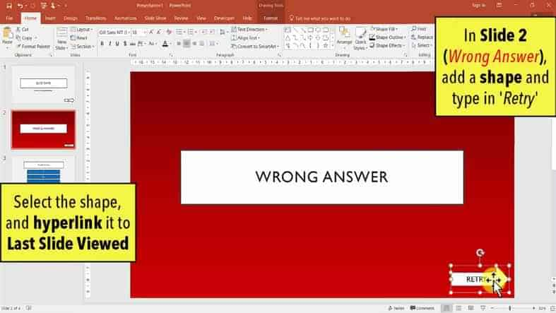 Retry PPT QUIZ - How to make a quiz game in PowerPoint