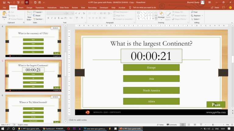 timer in ppt quiz