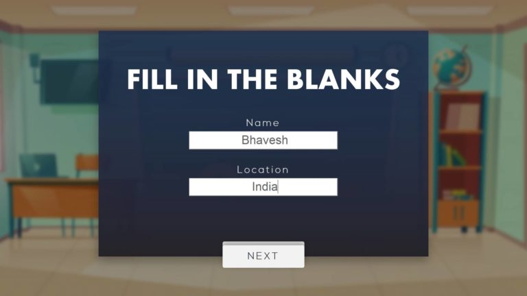 Download Fill in the blanks PPT TEMPLATE FOR FREE
