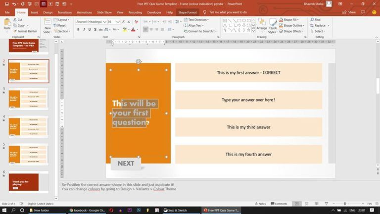 customisable powerpoint quiz game with sound effects