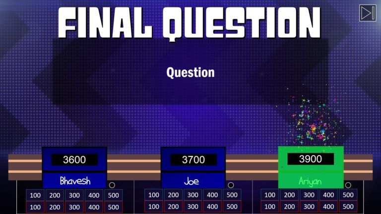 Download Jeopardy PowerPoint Game Template 7 - Download Jeopardy PowerPoint Template with Score Counter & Music