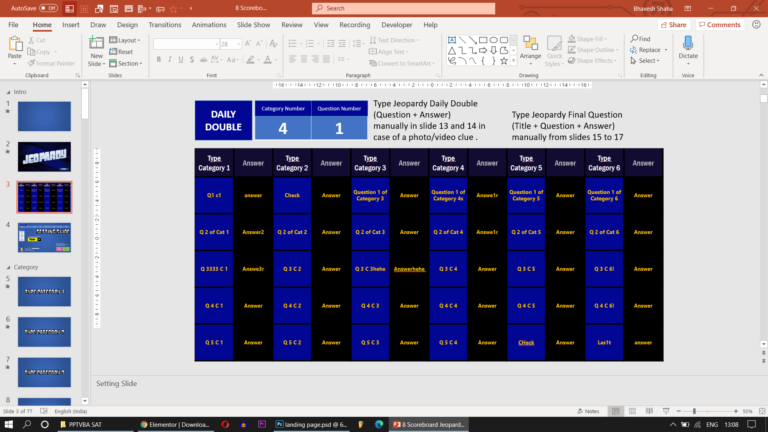 Download Jeopardy PowerPoint Game with Scoreboard - Download Jeopardy PowerPoint Template with Score Counter & Music