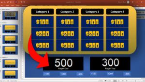 Jeopardy tut web - Download Jeopardy PowerPoint Template with Score Counter & Music