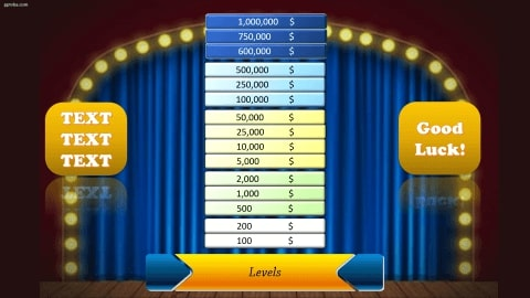 Who wants to be a millionaire Download free PowerPoint Template 2