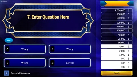 Who wants to be a millionaire Download free PowerPoint Template 3