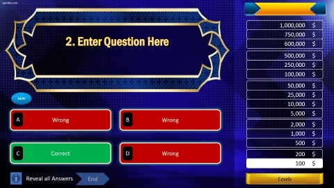 Who wants to be a millionaire Download free PowerPoint Template 4