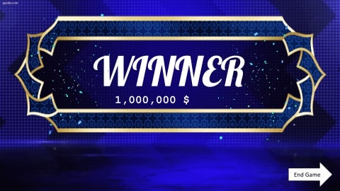 Who wants to be a millionaire Download free PowerPoint Template 6