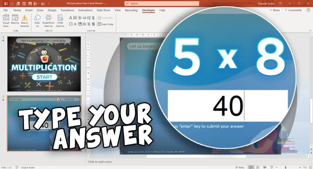 PowerPoint Multiplication Game - PowerPoint Multiplication Flash Cards Random Generator