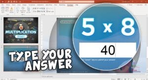 PowerPoint Multiplication Game - Fill in the blanks - PowerPoint Learning Game using VBA