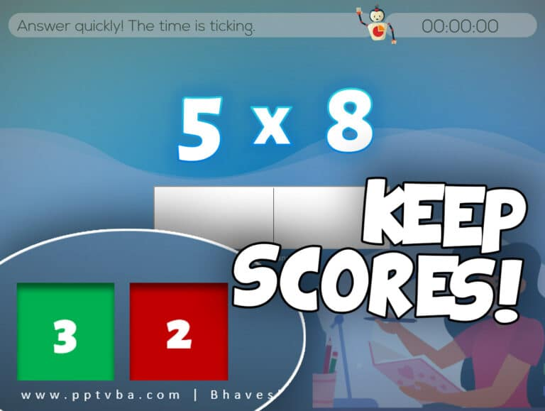 keepscores - PowerPoint Multiplication Game - Random Flash Card Generator