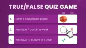 download true or false powerpoint quiz game template - Fill in the blanks - PowerPoint Learning Game using VBA