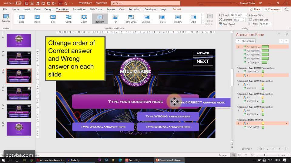 PowerPoint Game - Who Wants to Be A Millionaire 13