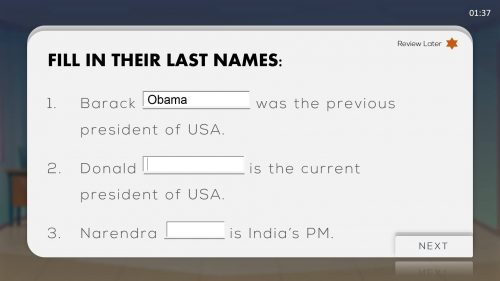 Download Fill in the blanks PPT TEMPLATE FOR FREE1
