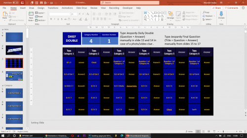 Download Jeopardy PowerPoint Game with Scoreboard