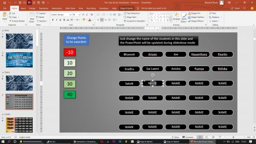 PowerPoint Quiz Game with Student Scoreboard Onlne teaching PPT Game Templates 7