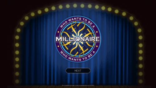Who Wants To Be A Millionaire PowerPoint Game Template Download 1