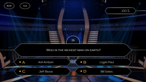 interactive who wants to be a millionaire powerpoint game template